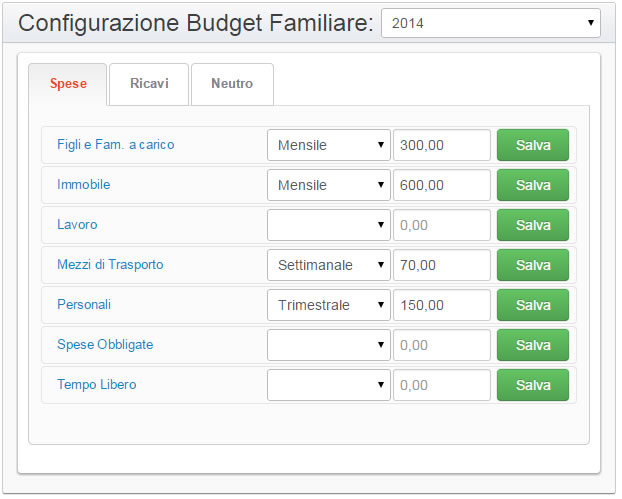 Bilancio familiare gratis programma online di contabilit for Design della casa online gratuito